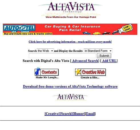 altavista moteur recherche