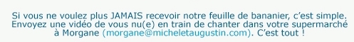 Newsletter michel et augustin