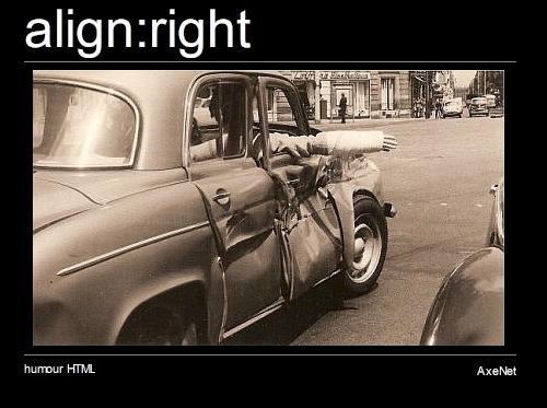 align:right