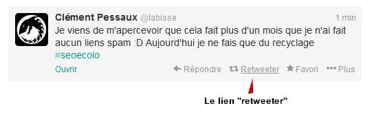 """Le lien """"retwetter"""""""