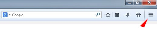 Affichage menu Firefox