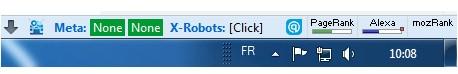 Barre de status Firefox