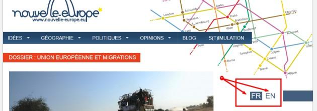 On notera que le site Nouvelle-Europe fait l'erreur en mettant des majuscules...