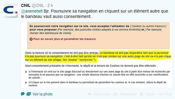 Réponse de la CNIL