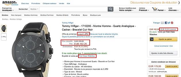 Une montre sur Amazon pour 177,28 euros avec la livraison.