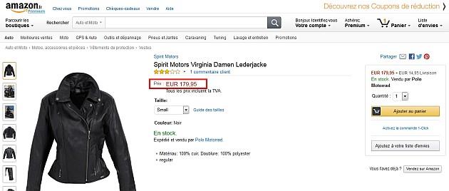 179,95 euros chez Amazon