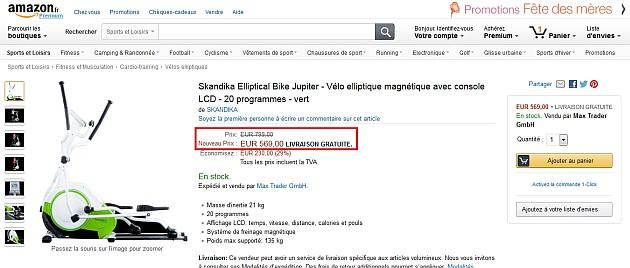 Un magnifique elliptique pour 569 euros au lieu de 799 !