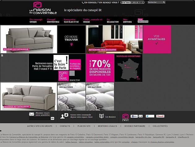 Exemple : l'ancienne interface - page d'accueil (cliquez pour agrandir)
