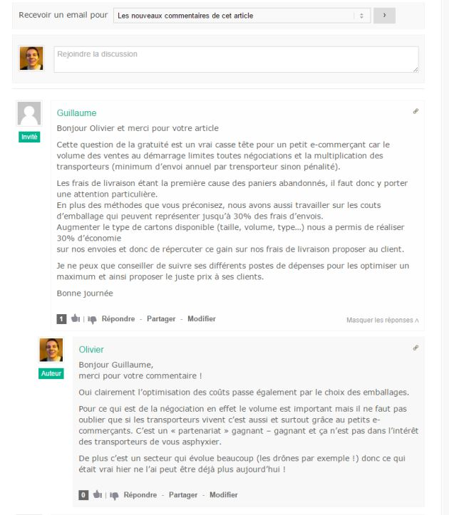 Exemple de plugin de commentaires