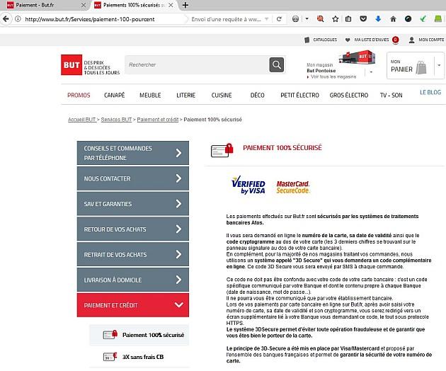 Paiement pas vraiment sécurisé chez BUT.fr #ecommerce